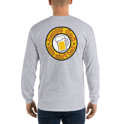 HDLAB Beer Logo Back Print Long Sleeve T-Shirt