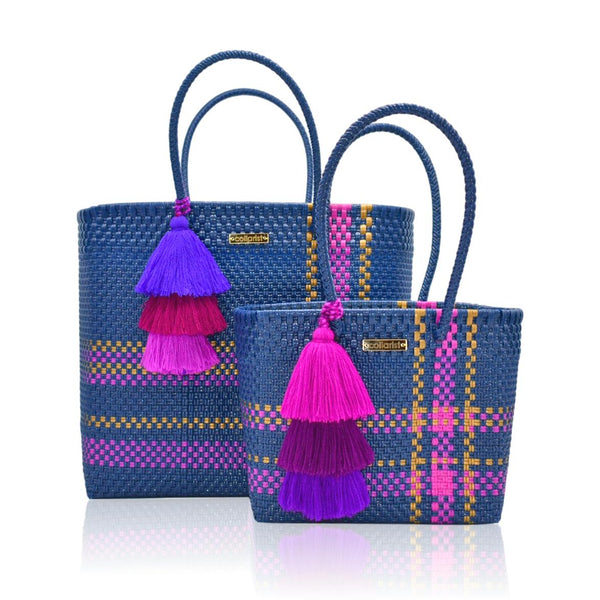 Wild Blueberry Handwoven Tote Bag