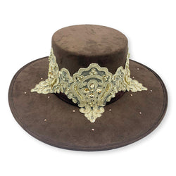 Marie Embellished Suede Bolero Hat with Swarovski Crystals