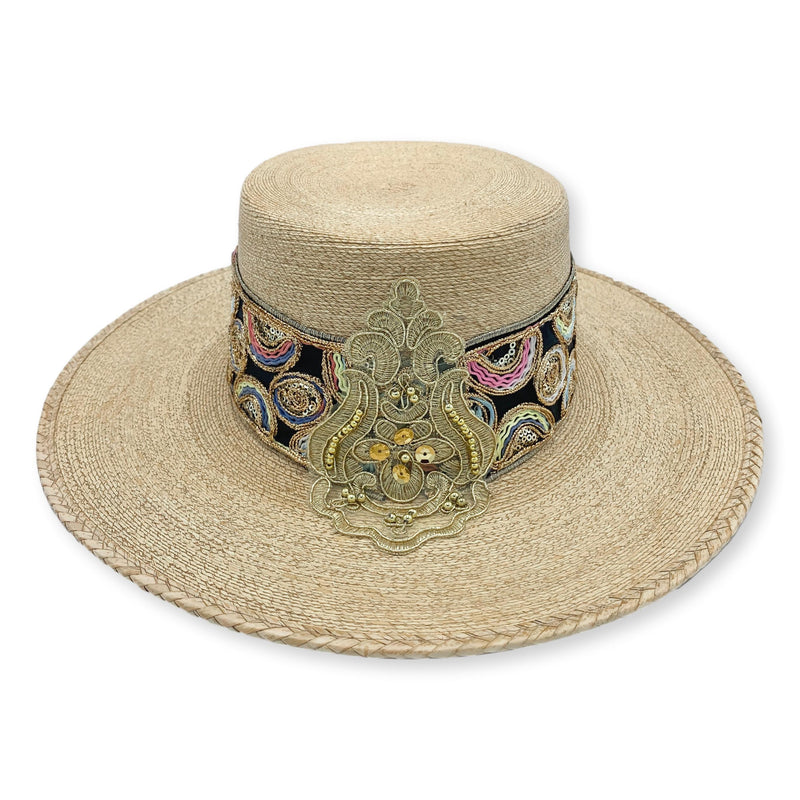 Luisella Sequin Embellished Palm Bolero Hat