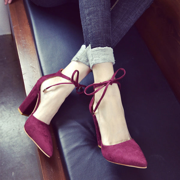 Women Solid Color Pointed Shoes
