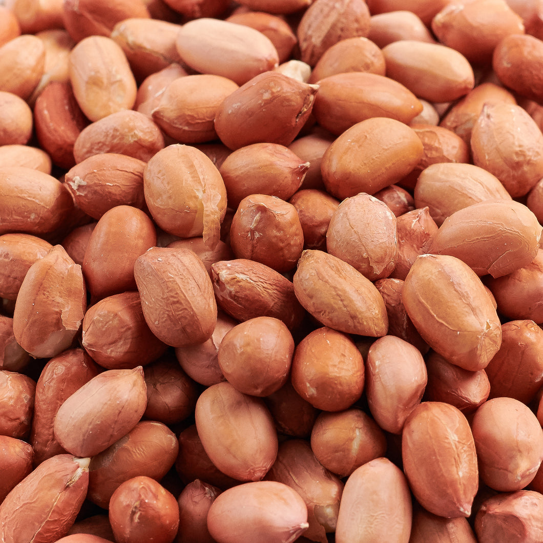 Roasted/Salted Redskin Peanuts - 30 Pound Bulk Case
