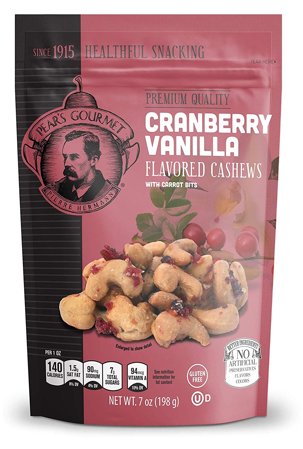 Cranberry Vanilla Flavored Cashews - 7 oz