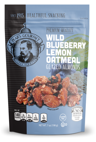 Wild Blueberry Lemon Oatmeal Glazed Almonds - 7 oz