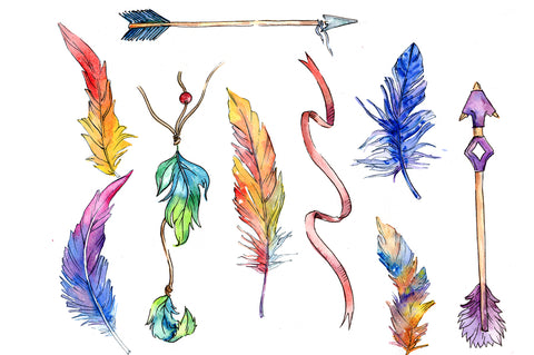 Watercolor Arrow royalty free images