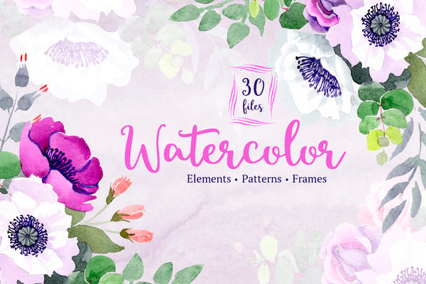 Bouquet of flowers Warm smile violet watercolor png