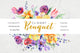 Bouquet flowers colorful mix watercolor png