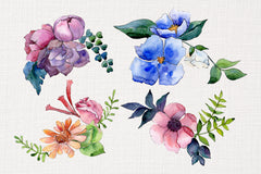Bouquet of flowers Intrigue watercolor png