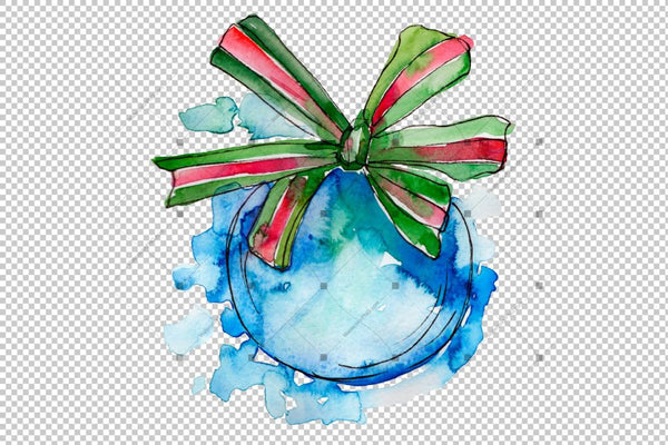 Christmas Png Watercolor Set Digital