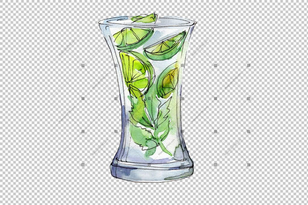 Ice Tea Png Watercolor Set Digital