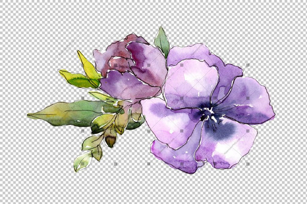 Wildflower Bouquets Png Watercolor Set Flower