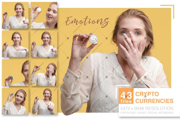 Crypto Currencies Latar Belakang Kuning Jpg Set Digital