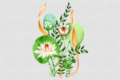 Bouquet Carnival of love watercolor png