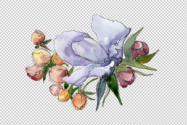 Bouquet of flowers Rebecca watercolor png