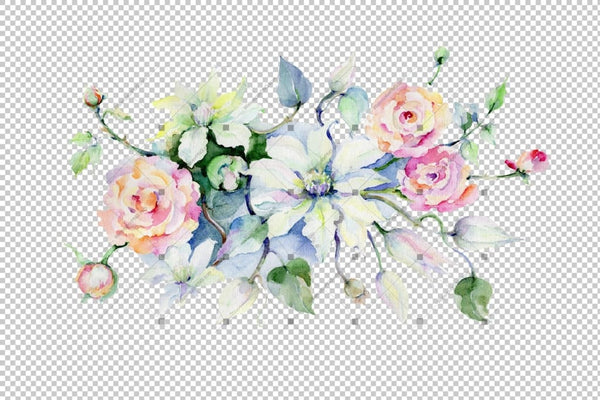 Celebration Bouquet Flowers Png Watercolor Set Flower