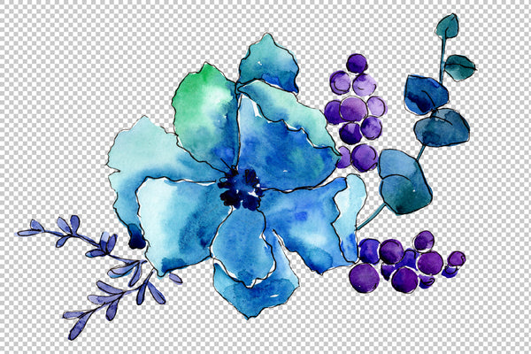 Bouquet Elegance watercolor png