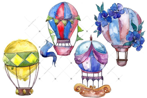 Watercolor Balloons royalty free images