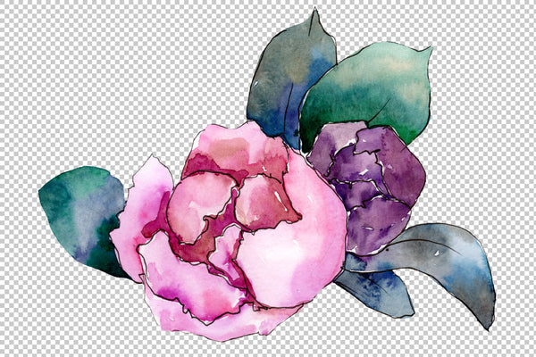 Bridal bouquet watercolor png