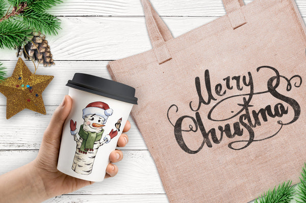 Merry Christmas watercolor png