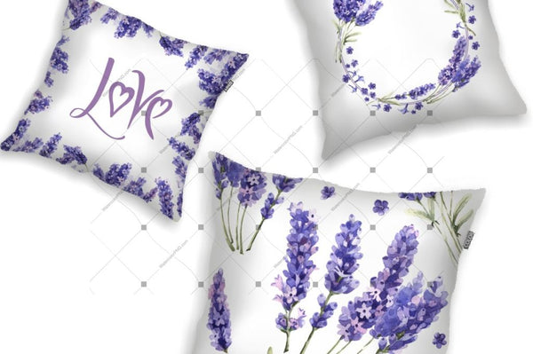 Lavender Png Flowers In Watercolor Digital
