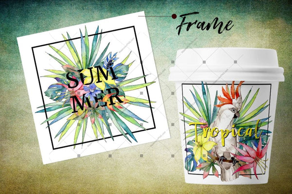 Tropical Png Watercolor Flower Set Digital