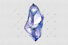 Aquarelle Crystals Mineral Png Set Digital