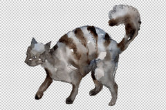 Agriculture: domestic pets-cat dog Watercolor png