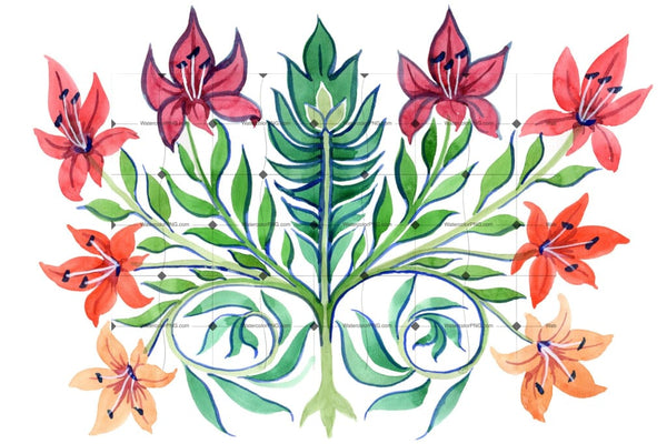 Ancient-Kiev Ornament Flower Png Watercolor Set Flower
