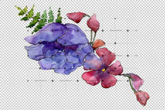 Aquarelle Bouquet Png Set Flower