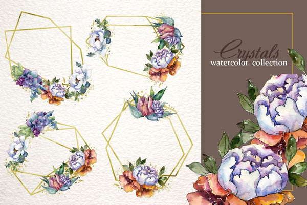 Bouquet Blooming meadow watercolor png Digital
