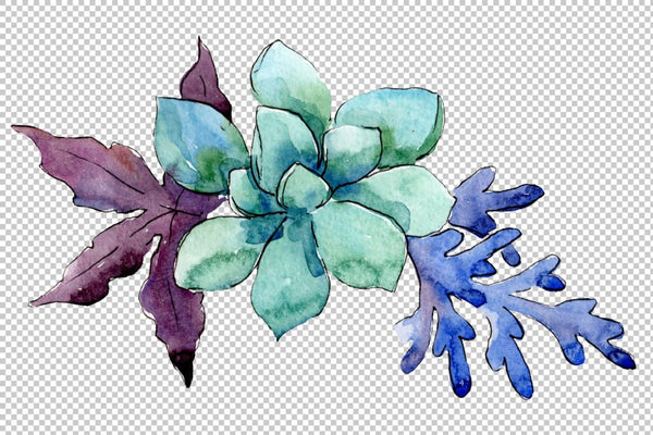 Bouquet Charming tenderness watercolor png Flower