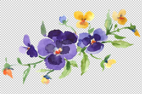 Bouquet Exotic Watercolor png Flower