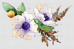 Composición de flores Bouquet Png Watercolor Flower