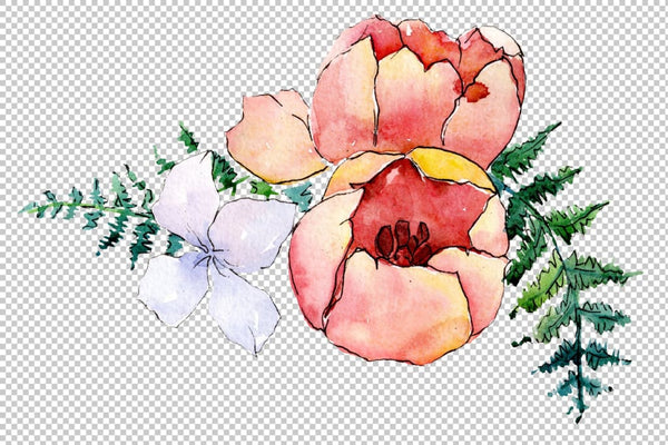 Bouquet Folk wisdom watercolor png Flower
