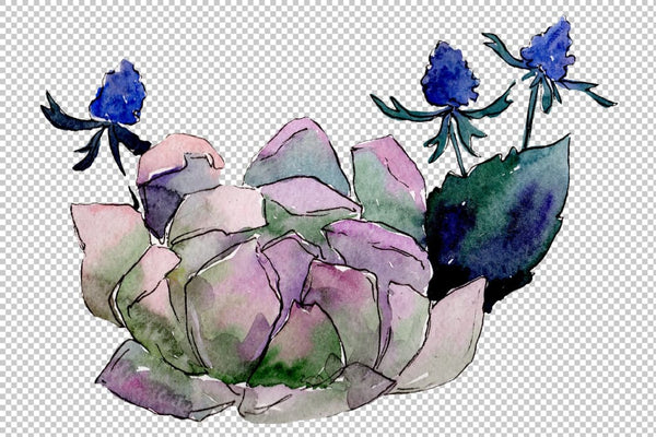 Bouquet Gentle rustle watercolor png Flower
