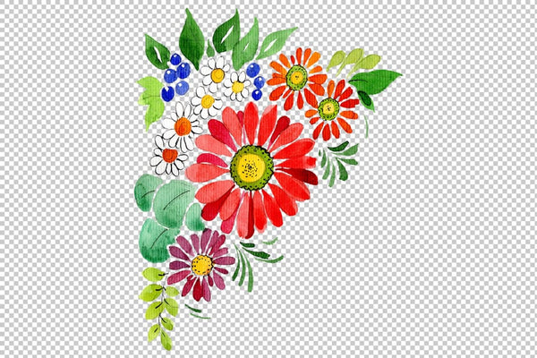 Bouquet Gifts of Nature watercolor png Flower