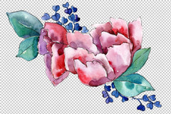 Bouquet heart joy watercolor png Flower
