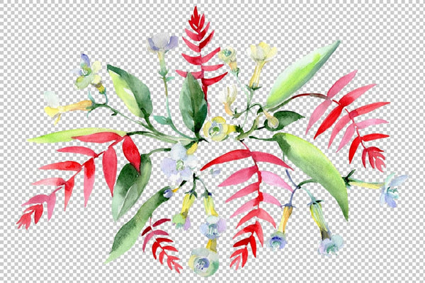 Bouquet Kaleidoscope watercolor png Flower