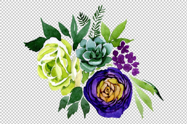 Bouquet Karelia watercolor png Flower