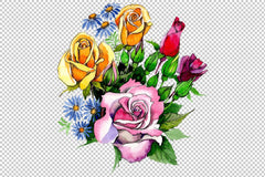 Bouquet Love Waterfall watercolor png Flower