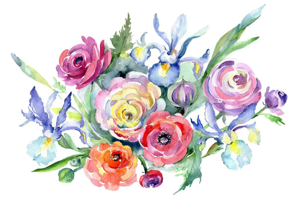 Bouquet Marseille watercolor png Flower