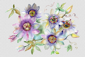 Bouquet of spring hello watercolor png Flower