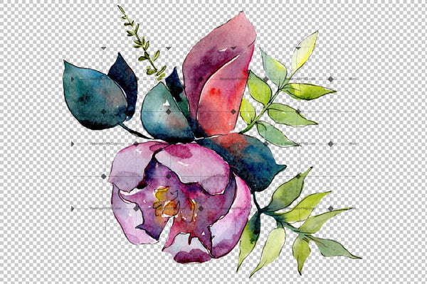 Bouquet Of Tropical Flowers Png Watercolor Flower