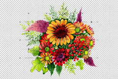 Bouquet Of Wild Flowers Png Akvarell Set Flower