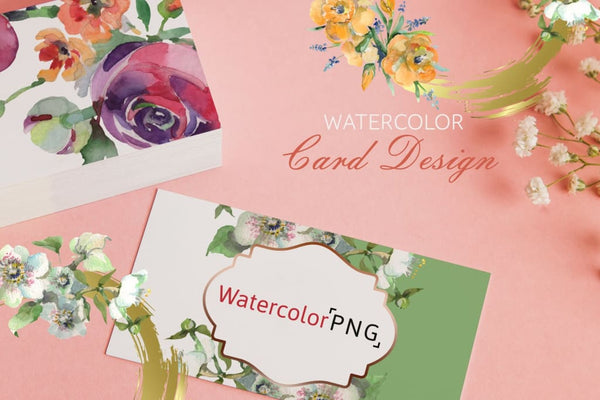 Bouquet spring fairy tale watercolor png Digital