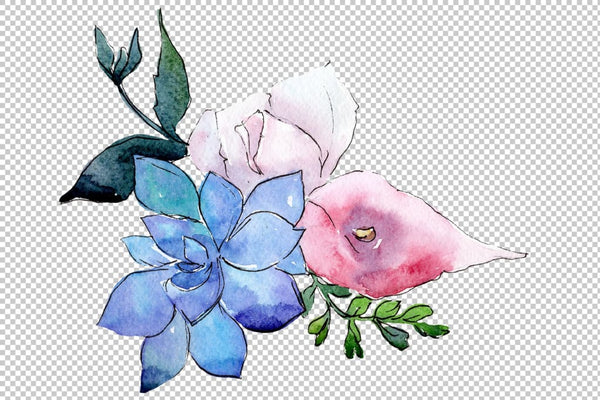 Bouquet The first song of summer watercolor png Flower