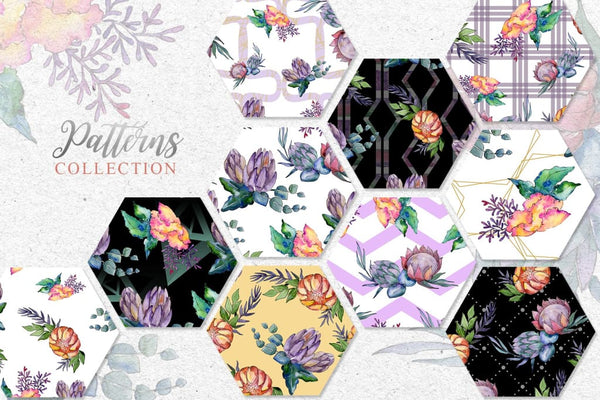 Bouquets a special case Watercolor png Digital