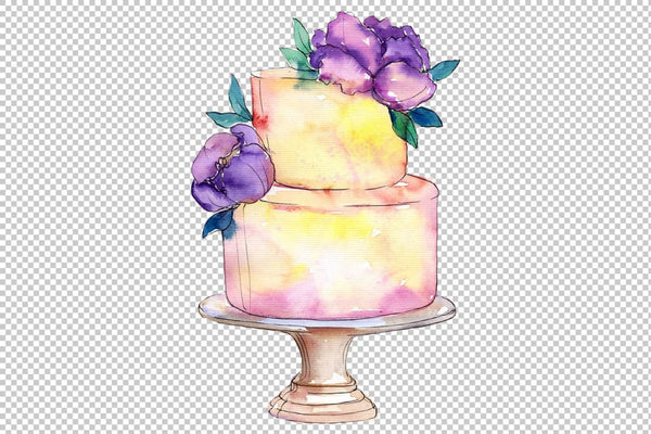 Cakes Yummy Watercolor png Flower