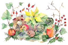 Bouquet Natal Stun Salad Watercolor png