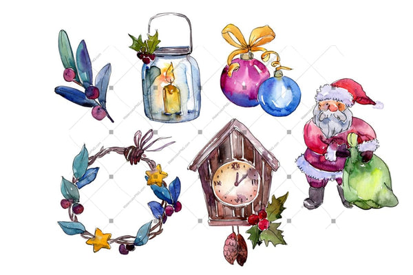 Christmas Collection Elements Png Set Digital